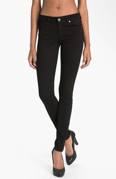 Paige 'Verdugo' Stretch Denim Leggings (Vinyl) available at #Nordstrom
