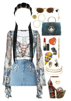 """""""♥Lights a tangled web♥"""" by katherinethecat ❤ liked on Polyvore featuring Roberto Cavalli, Emanuel Ungaro, Moschino, Elie Saab, Revlon, Charlotte Russe, Kate Rowland, Etro, Dotti and ootd"""