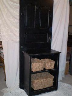 DIY Craft Projects using Old Vintage Windows Doors - old door storage cabinet Vintage Doors, Vintage Windows, Antique Doors, Old Doors, Old Door Projects, Diy Projects To Try, Home Projects, Repurposed Items, Repurposed Furniture