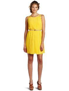 Summery Sunshine Jessica Simpson Women's Sleeveless Pleated Dress