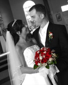 black white wedding bouquet flowers