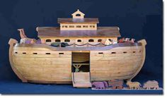 Noah's Ark and animals woodworking plan