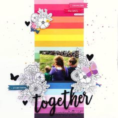 "Paper Issues on Instagram: ""@mavvek is on the blog today with a beautiful page she created for #ScrapliftSunday. Swipe to see Angie's original and play along!"""