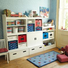 Start with a simple toy box and interlocking shelf unit and then add extra modular units as you go along to create a simple play room storage unit, versatile bedroom storage, a child's home study, a useful and practical room divider or a convenient set of hallway furniture. The possibilities are truly endless and limited only by your imagination.