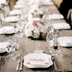 Long Table Table Settimg