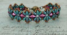 Bracelet of the Day: Bisaneta's Bracelet - Turquoise & Burgundy