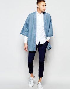 Image 4 of ASOS Denim Kimono