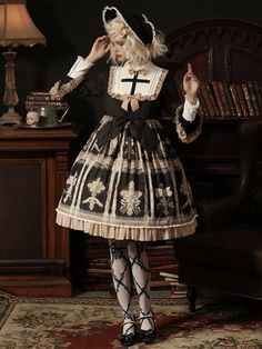 Larmes d'Anges -The Celestial Maiden- Gothic Lolita OP Dress Quirky Fashion, Asian Fashion, Harajuku Fashion, Kawaii Fashion, Mode Lolita, Estilo Lolita, Gothic Lolita Fashion, Cosplay, Japanese Street Fashion