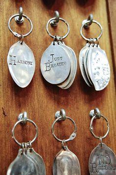 hammered spoon bowls key tags