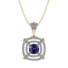 Masterfully crafted in gold, this Tiered Diamond Sapphire Necklace is a bold standalone design. Sapphire Necklace, Sapphire Jewelry, Diamond Pendant Necklace, Diamond Jewelry, Diamond Necklaces, Onyx Necklace, Mens Sterling Silver Necklace, Silver Earrings, Silver Ring