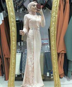 Hijab Prom Dress, Hijab Evening Dress, Muslimah Wedding Dress, Dress Muslim Modern, Kebaya Modern Dress, Gaun Dress, Dress Brokat, Muslim Fashion, Modern Hijab Fashion