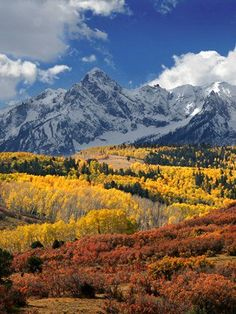 San Juan Mountains In Fall - Colorado. USA. From Spectacular Places...