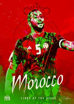 Morocco : أُسُود الأطلس / Igrzamn n Atlasi = Lions of the Atlas! Football 2018, Football Names, Football Art, Football Jerseys, Football Season, Football Players, Soccer Cup, Youth Soccer, Soccer Stars