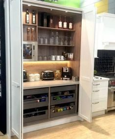 Beauteous Kitchen design or layout tricks,Small kitchen cabinets with sink ideas and kitchen remodel ideas. Kitchen Pantry Design, Diy Kitchen Storage, New Kitchen Cabinets, Rustic Kitchen, Kitchen Ideas, Kitchen Organization, Kitchen Decor, Long Kitchen, Organization Ideas