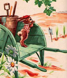 """Peter Rabbit"" illustrated by Florence Sarah Winship (1955)."