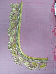 Aari work Patch Work Blouse Designs, Hand Work Blouse Design, Aari Work Blouse, Maggam Work Designs, Simple Blouse Designs, Bridal Blouse Designs, Blouse Neck Designs, Peacock Embroidery Designs, Saree Embroidery Design