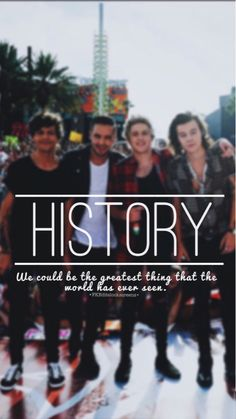 History by one Direction