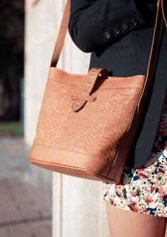 Leather shoulder bag from & other stories