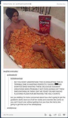 funny tumblr post hashtag doritos tub