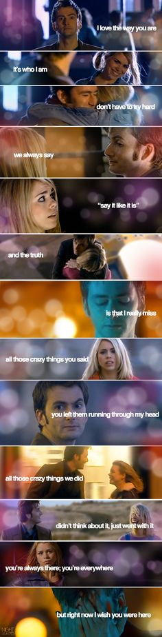 Doctor Who | The Tenth Doctor and Rose Tyler | I Wish You Were Here