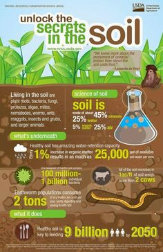 Here's unlocking the secrets in the #soil!  #Agriculture #Farming #CultivatingtheWorld  Via: nrcs.usda.gov