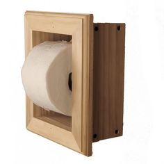 WG Wood Products Newton Recessed Toilet Paper Holder 21 Holder in Unfinished Wall Hugger Frame Recessed Toilet Paper Holder, Toilet Paper Roll Holder, Toilet Paper Storage, Paper Towel Holder, Paper Holders, Contemporary Frames, New Toilet, Decoration, 5 D