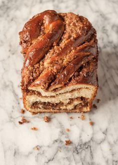 Recipe: Sticky Caramel-Pecan Babka Loaves — Recipes from The Kitchn Breakfast And Brunch, Breakfast Pastries, Breakfast Items, Cannoli, Strudel, Beignets, Babka Recipe, Biscuits, Loaf Recipes