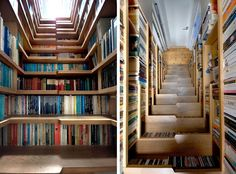 50  Awesome, Creative Ways to Display and Store Books » Man Made DIY | Crafts for Men « Keywords: decor, storage, book, media