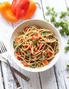 Asian Peanut Noodles | Hummusapien #vegan