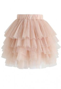 Love Me More Layered Tulle Skirt in Nude Pink for Kids - KIDS - Retro, Indie and Unique Fashion Unique Fashion, Look Fashion, Skirt Fashion, Fashion Dresses, Love Me More, Skirts For Kids, Pleated Midi Skirt, Mesh Skirt, Chiffon Maxi