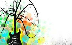 images for guitar paintings   guitar designs art wallpapers