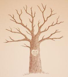 Die 14 Besten Bilder Von Baum Zeichnung Wedding Trees Guestbook