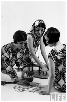 The Dees Triplets - 1964 by Nina Leen