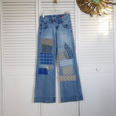 JEAN SALE Hippie Clothes Patch Rip Bell Bottom by The Land of Bridget ~~ Jan 1st thru Jan 7th 2017 ALL Jean pants will be marked down to $50.00 or less!