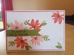 Karte - Stampin' Up! - Gartengrüße - Olivgrün, Schwarz, Calypso - Card - Avant Garden
