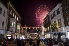 Fireworks at the Christmas Lights switch-on, thanks to Lion Walk shopping centre
