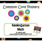 Common Core Posters - Kindergarten Language Arts & Math Bundle (Black with Dots)