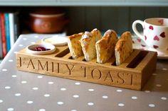 Personalised Engraved Solid Oak Toast Rack