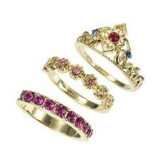 Rapunzel 3 piece ring set