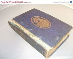 ON SALE Antique Bible 1871 Young People's Bible by RareBooks, $20.00