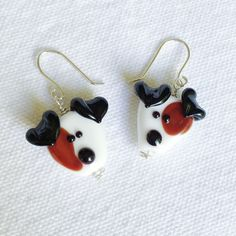 Why wear ordinary jewelry when you can wear jewelry for the Jack Russell Terrier lover! Add some sparkle and shine to your wardrobe while paying tribute to your best friend with these tri-colored Jack