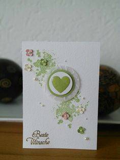 Wedding Card Stampin Up: Itty Bitty, Gorgeous Grunge, Hearts a flutter