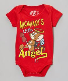 Take a look at this Red 'Mommy's Little Angel' Bodysuit - Infant by Tom & Jerry on #zulily today!