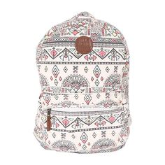 Billabong Women's Hand Over Love Backpack ($13) ❤ liked on Polyvore featuring bags, backpacks, accessories, bolsas, white cap, white cotton backpack, white bags, strap backpack, rucksack bag and padded bag