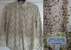 James Meade Floral Blouse Shirt Cotton UK 12 #JamesMeade #Blouse