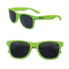 Personalized rubber touch Oahu sunglasses – kiwi green possess thick rubber coating and they attract with their bright color. #kiwi #oahu #sunglasses #green