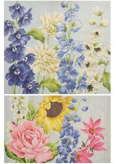 BRAND NEW Floral Needlepoint Canvases by Kirk & Bradley KB1143 and KB1144