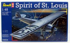 Spirit of St. Louis Charles Lindbergh Airplane Model Kit Revell #04524 1/48 New