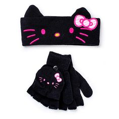 "Hello Kitty Girls Headband and Convertible Glove Set - Black - Berkshire Fashions - Toys ""R"" Us"