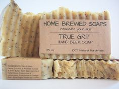 Soothe your working hands with our True Grit Natural Hand Scrub Beer Soap!